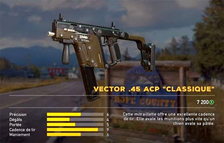 Vector .45 Far Cry 5 mod