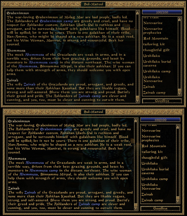 Better Dialogue Font preview in Morrowind