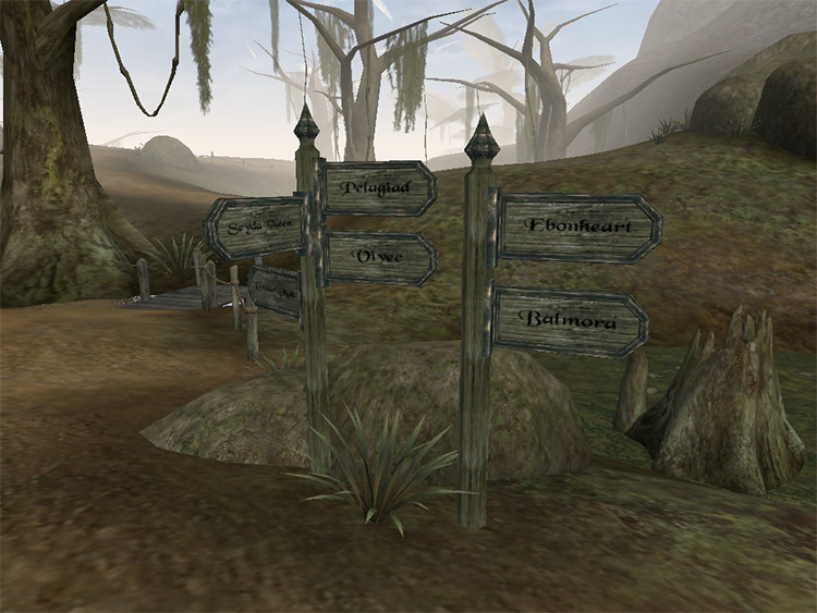 Real Signposts for Morrowind