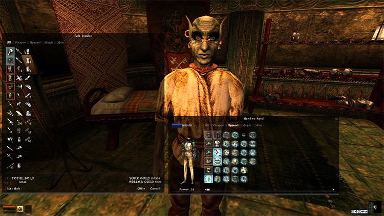 Skyrim UI Overhaul made for Morrowind