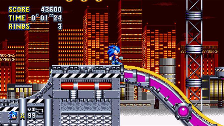 Mega Mania Sonic mod