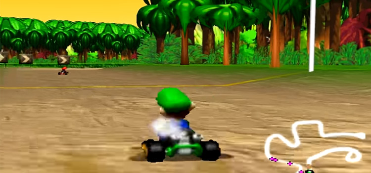 Mario Kart 64 - Luigi cart screenshot