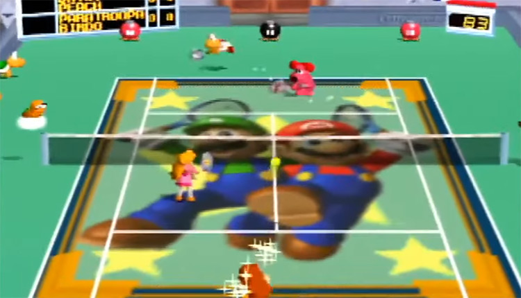Mario Tennis N64 screenshot