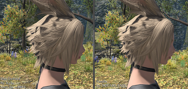 Hair Defined FF14 mod