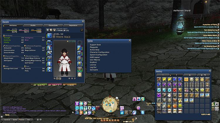 Blue UI FF14 mod