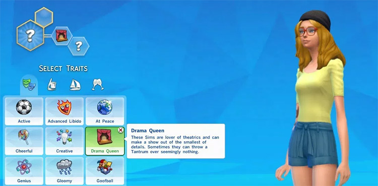 Drama Queen Sims4 mod