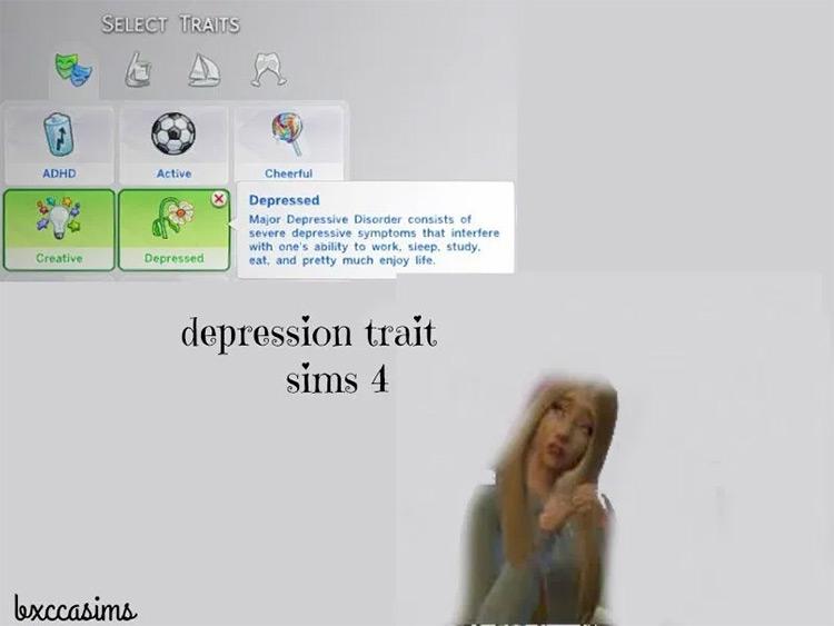 Depression Trait in Sims4