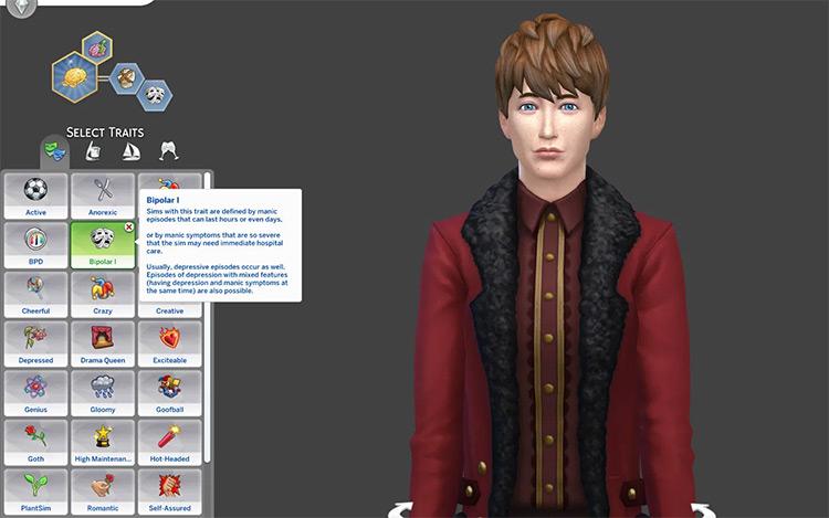 Bipolar Trait Sims4