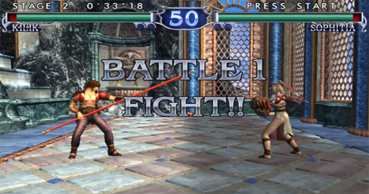 Soulcalibur II gameplay screenshot