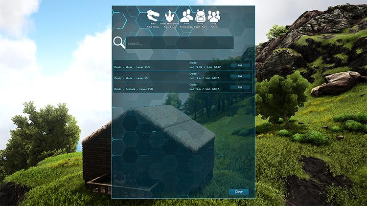 DinoTracker Ark mod