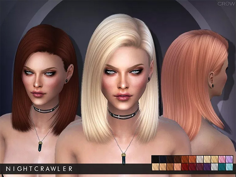 Nightcrawler Hair Sims4 mod
