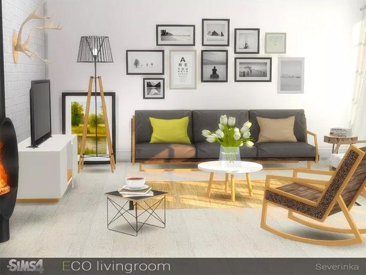 Sims4 ECO Livingroom