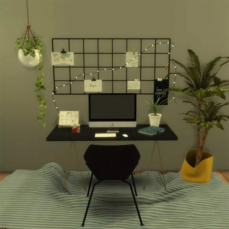 Wall Grid with String Light mod