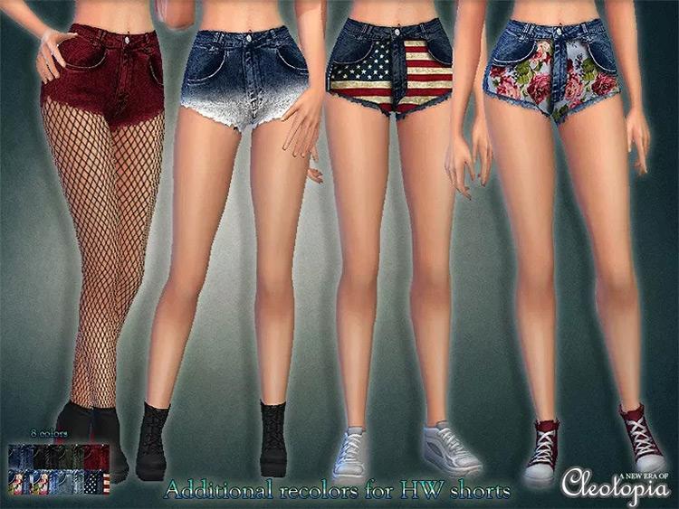 High Waisted Shorts Sims4 mod