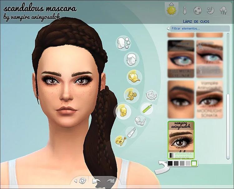 Scandalous 5 Mascaras Sims4