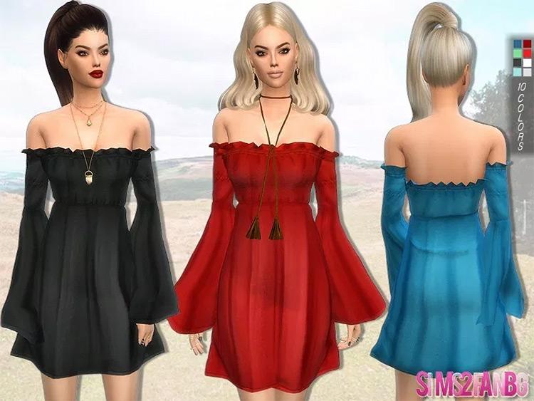 Boho Dress Sims4