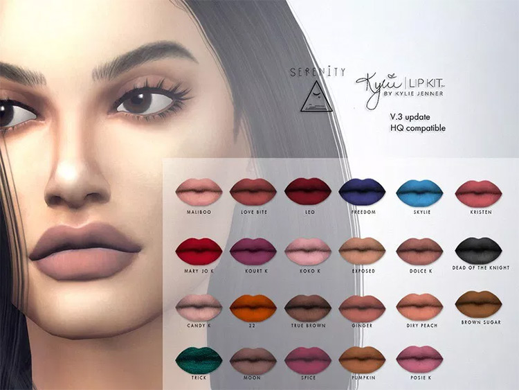 Kylie Cosmetic Matte Lipsticks Sims4