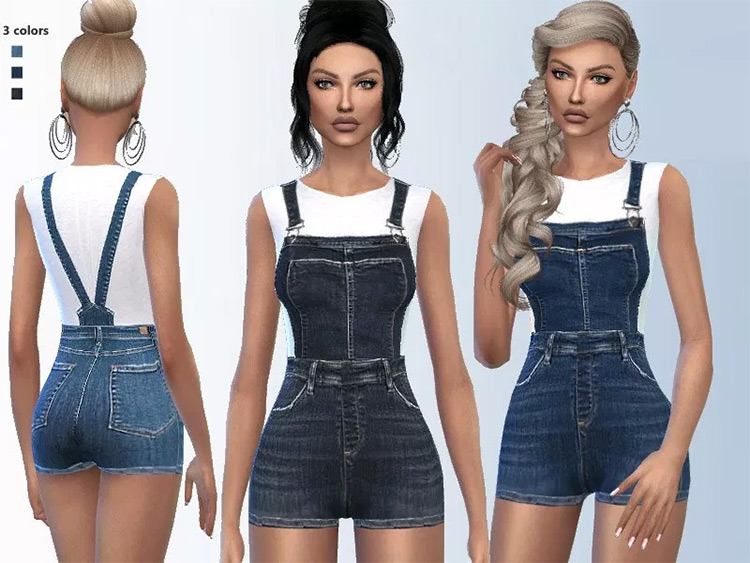 Denim Outfit Sims4 mod