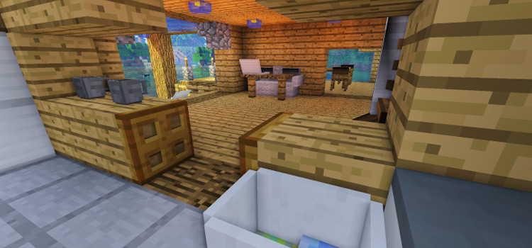 Scarab furniture mod in Minecraft