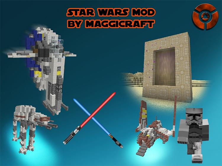 майнкрафт 1.7.10 мод на star wars #10