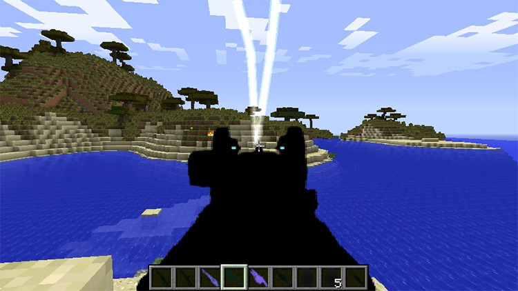 Crysis weapons in Minecraft
