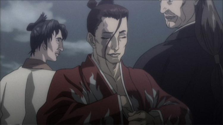 Captura de tela do anime Shigurui