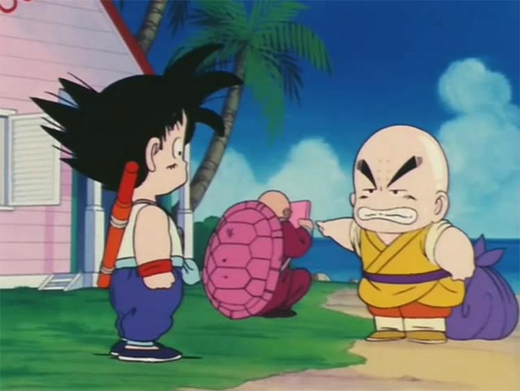 Captura de tela original do Dragon Ball