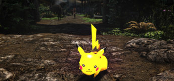 Pikachu Follower mod in Skyrim