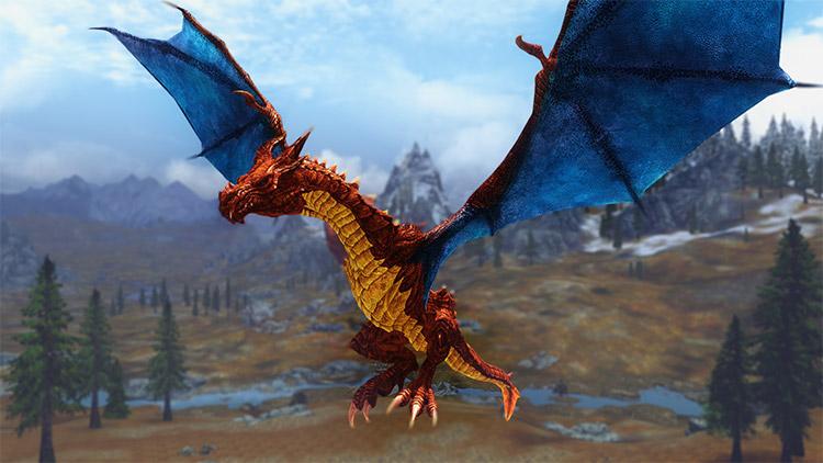 Charizard Dragon in Skyrim - Mod Screenshot
