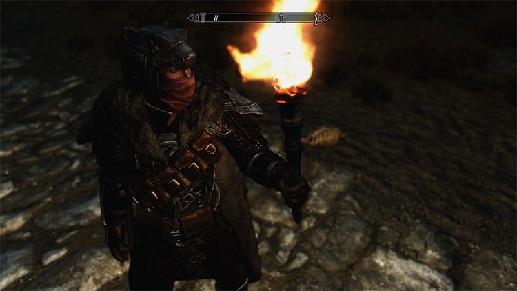 Helmet with accessories in Skyrim