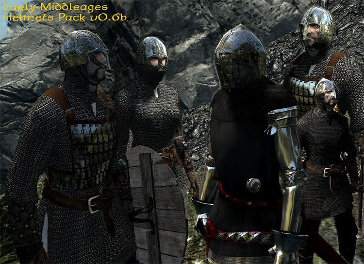 Early middle ages helmets set preview