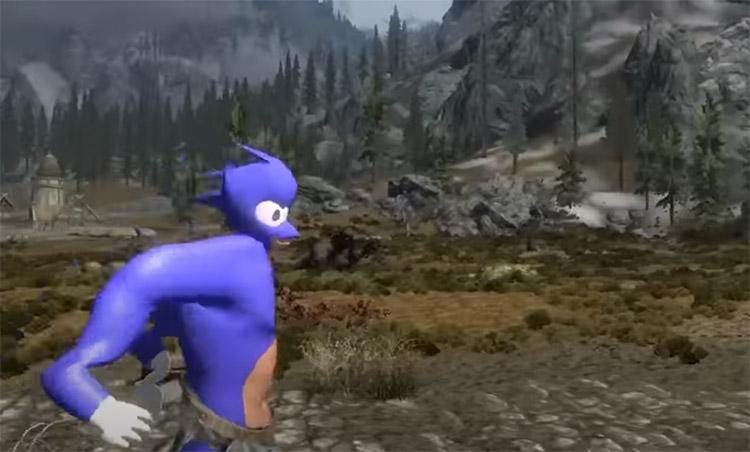 Crimes Against Nature Sonic Mod for Skyrim