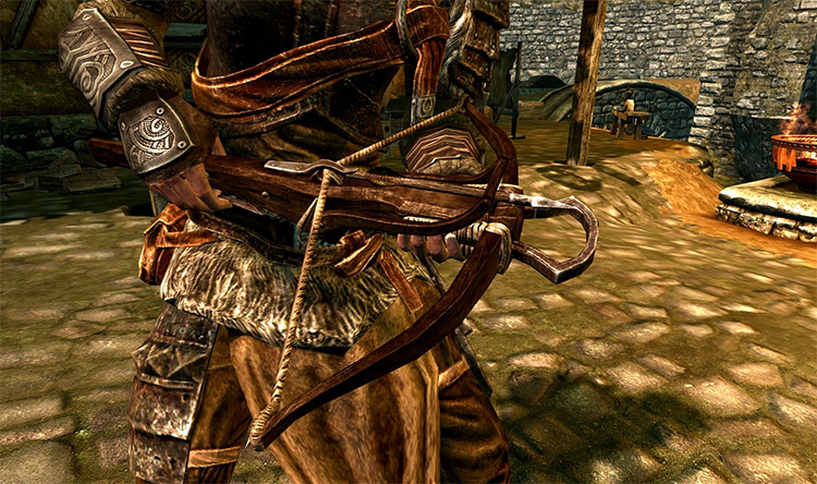 Simple wooden crossbow mod for Skyrim