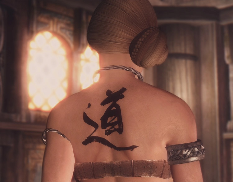 KJ Tattoo Skyrim Mod Preview