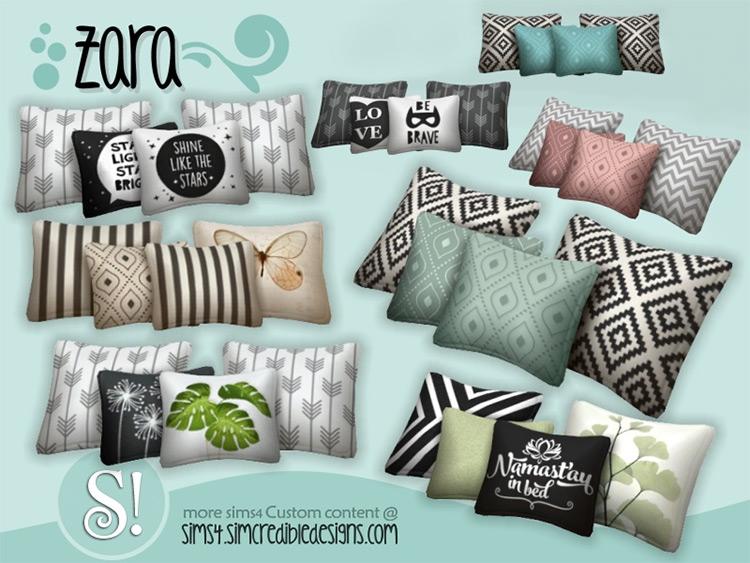 Zara Pillows for Sims 4