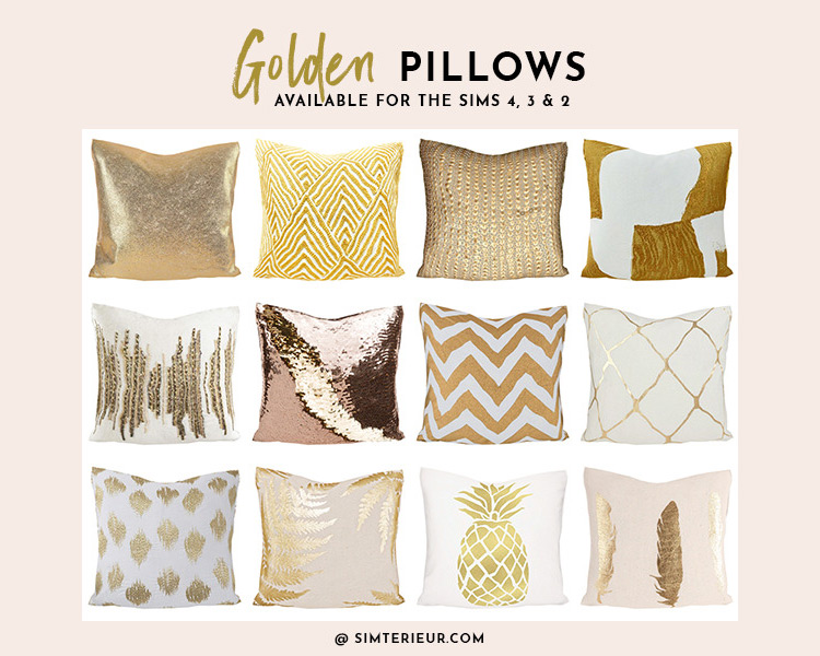 Golden Pillows Sims 4 CC