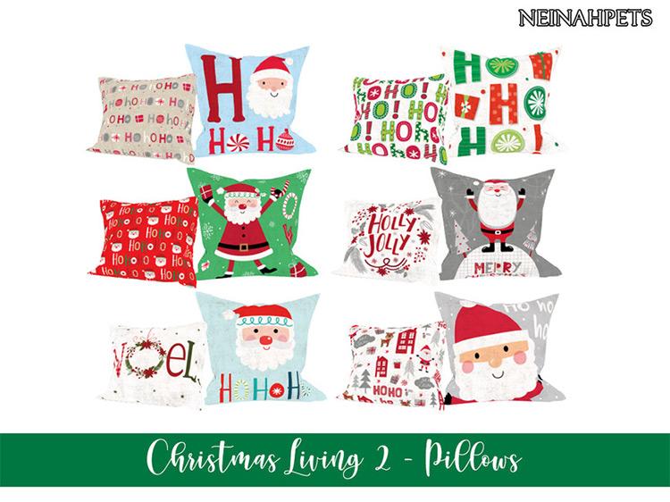 Christmas Pillows for Sims 4