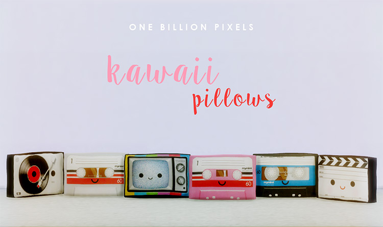 Kawaii Pillows for Sims 4