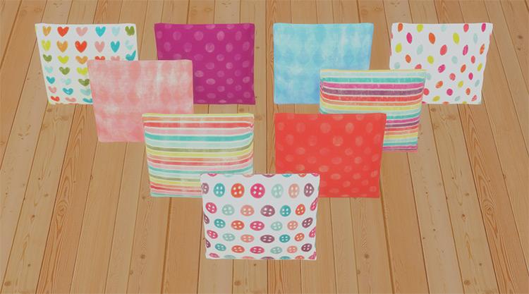 Candy Color Pillows TS4 CC