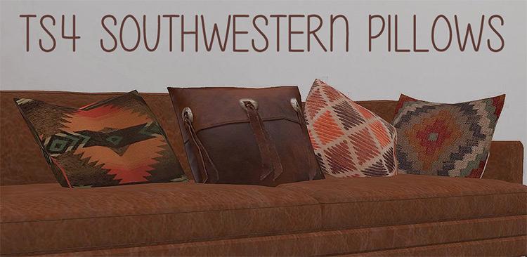 Southwestern Pillows Sims 4 CC