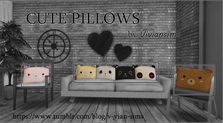Cute Pillows for Sims 4
