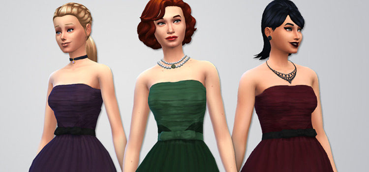 Best Sims 4 Strapless Dress CC (All Free)