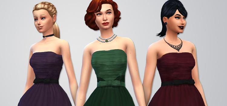 Pierre Balmain evening dress strapless design - TS4 CC