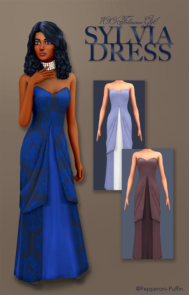 Sylvia Dress Sims 4 CC