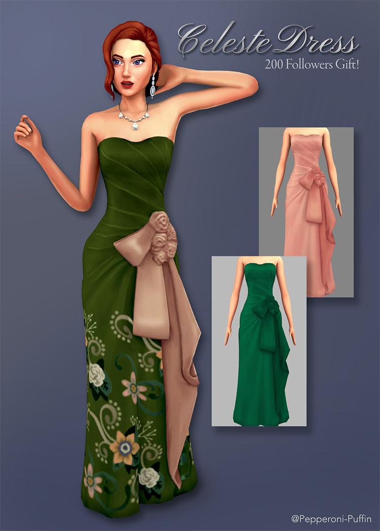 Celeste Dress for Sims 4