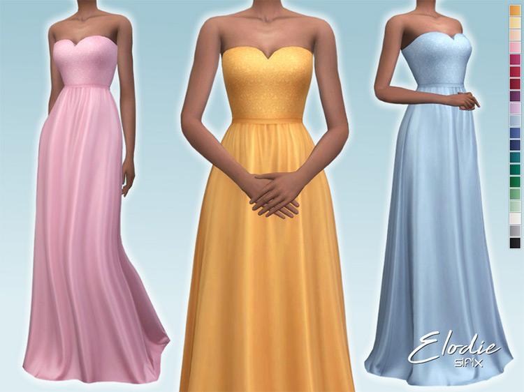 Elodie Dress Sims 4 CC