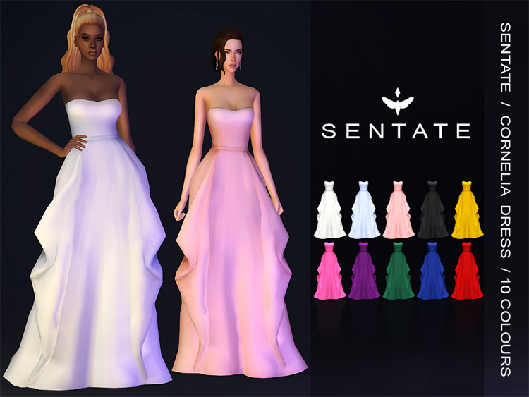 Cornelia Gown for Sims 4
