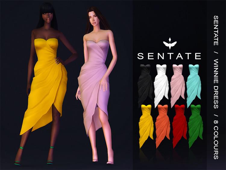 Winnie Dress Sims 4 CC