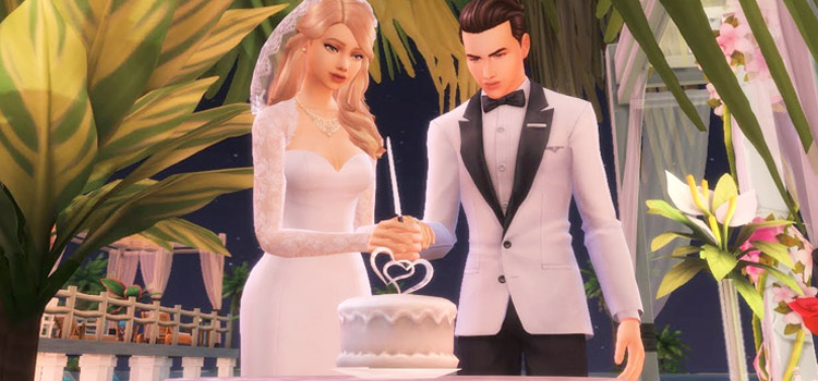 Sims 4 Bride & Groom Wedding Cake Pose