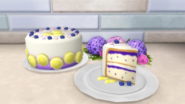 Lemon Blueberry Cake Sims 4 CC